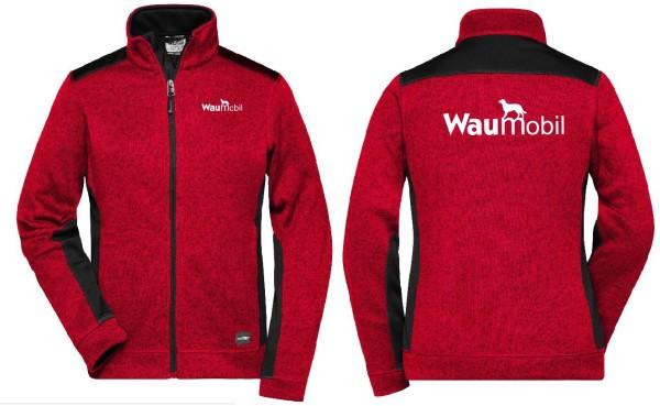 Damen Strickfleece Jacke mit Waumobil Logo