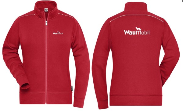 Damen Sweat Jacke Waumobil Logo