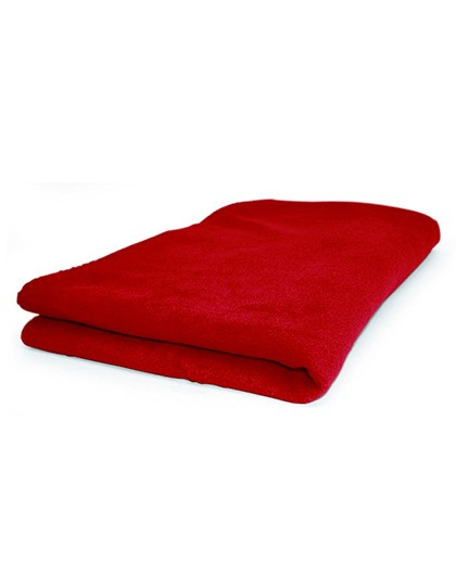 Fleece Decke uni mit Waumobil Logo, Trockner geeignet