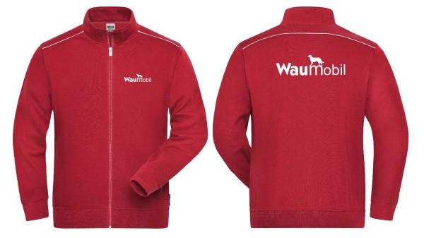 Herren Sweat Jacke mit Waumobil Logo