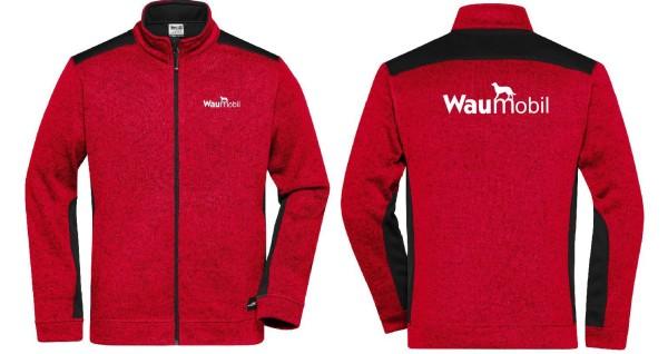 Herren Strickfleece Jacke mit Waumobil Logo