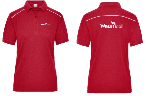 Damen Poloshirt mit Waumobil Logo