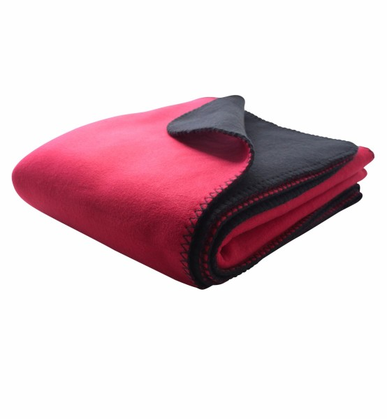Bonded Fleece Decke zwei-farbig mit Waumobil Logo