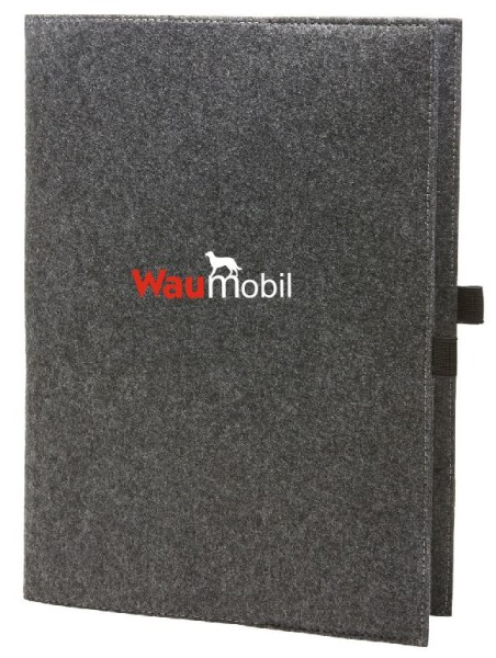 Filzhülle mit Waumobil Logo